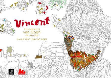Vincent il tuo album di van gogh da colorare gallucci for Disegni da colorare di van gogh